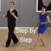 Step by step dance instruction